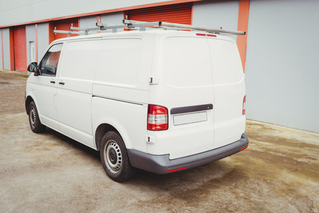 Picture of a white van Stock Photo