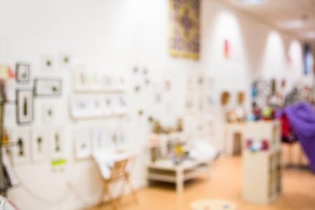 furniture design: Blur interior of furniture and design store