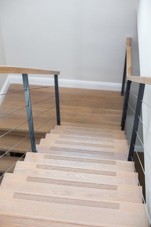 steps and staircases: Empty staircase of new house