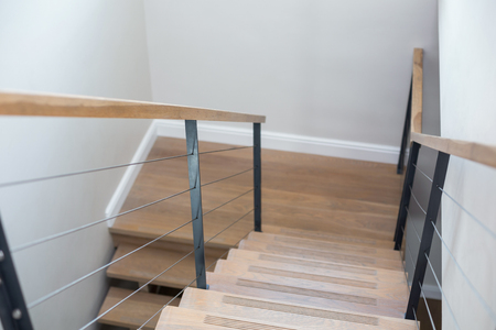 steps and staircases: Close up of tairway of house of new house