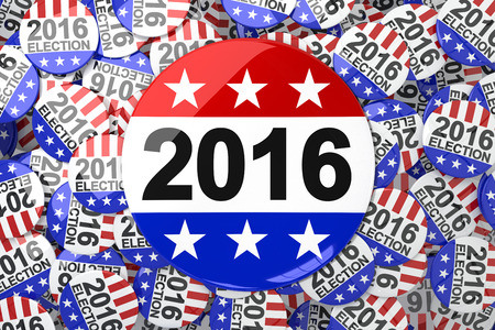 suffrage: Vote button against vote button