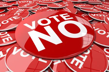 vote button: Vote button against badge red vote