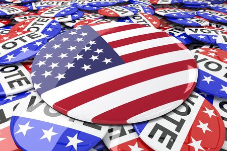 suffrage: Vote button against badges vote