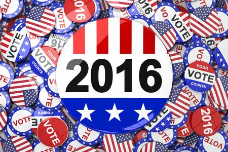 vote button: Vote 2016 button against vote button