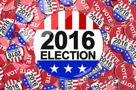 suffrage: Vote 2016 button against badge vote 2016