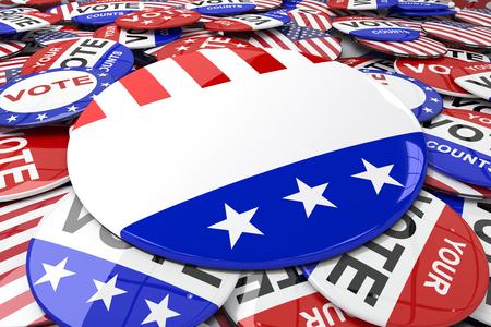 suffrage: Vote button against badge vote 2016