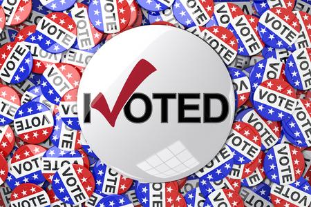 vote button: Vote button against badges vote