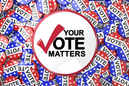 Vote button against badges vote