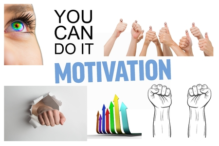 motivating: Collage of motivating pictures