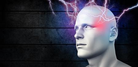 Lightning bolt against dark fence