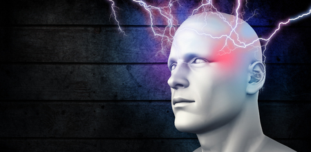 interrogations: Lightning bolt against dark fence