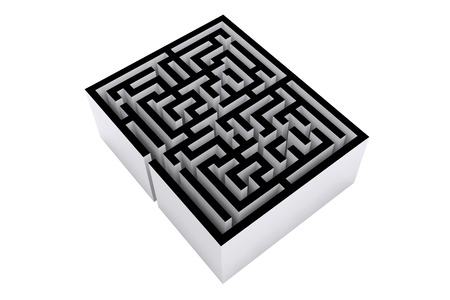 vignette: Maze against white background with vignette