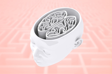 difficult: Maze as brain against difficult maze puzzle