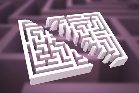 difficult: Maze against difficult maze puzzle