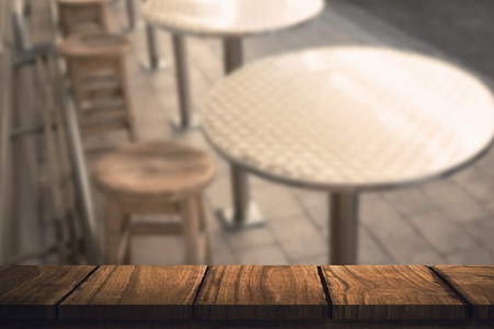 bar stool: Wooden desk against stylish bar stool with table