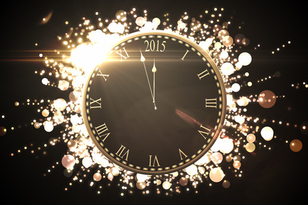 digitally: Digitally generated Black and gold new year graphic Stock Photo