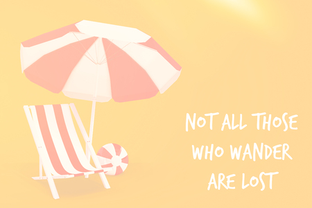 those: Not all those who wander are lost against white background with vignette Stock Photo