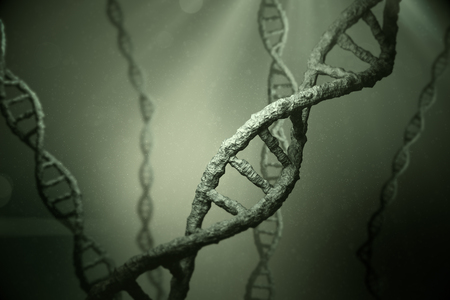 geneticist: View of dna Stock Photo