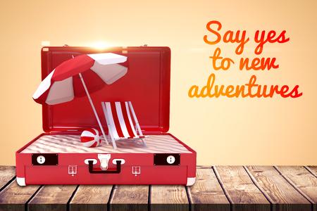 Motivation slogan against orange background
