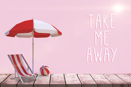 Motivation slogan against pink background Stock Photo