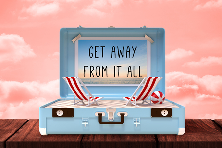 get away: Get away from it all against orange