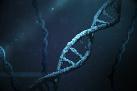 Image of the helix shape of a dna