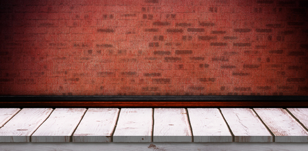 red wall: Red wall with parquet Stock Photo
