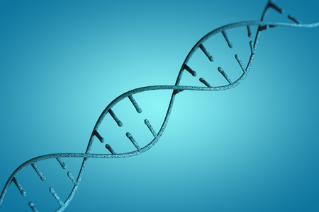 co lour: Image of dna helix against blue vignette background
