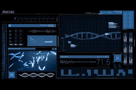 computer scientist: Data science against blue background