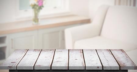 domicile: Wooden floor against sitting room