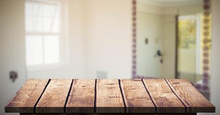 homely: Wooden Floor against bathroom