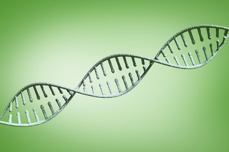 vignette: View of a dna against green vignette