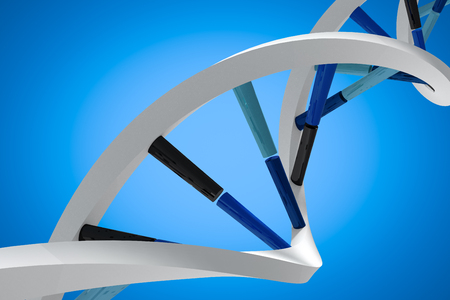 dna helix: Image of dna helix against blue background