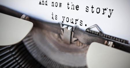 sentence: A sentence  against a printer Stock Photo