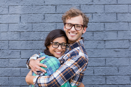 Affectionate young couple embracing each other Stock Photo