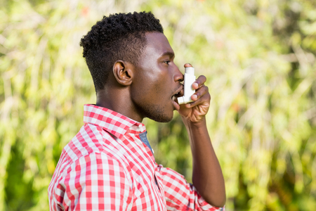 lonesomeness: Man is taking a breath of air fresh Stock Photo