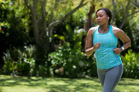 abandonment: Woman running at park
