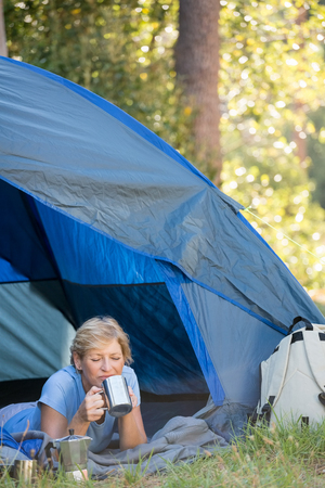 Camping free mature picture woman