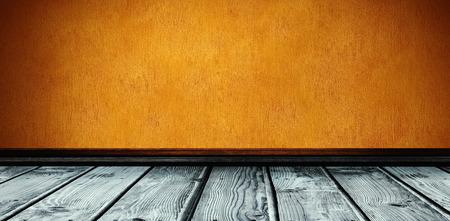 parquet: Grey parquet against orange background