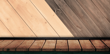 white wall: A white wall with parquet against wooden planks Stock Photo