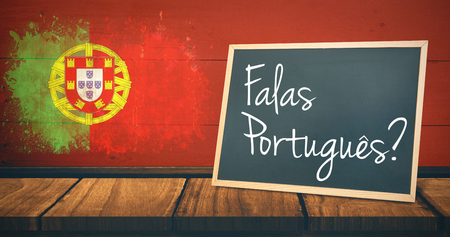 sentence: A sentence  against portugal flag in grunge effect