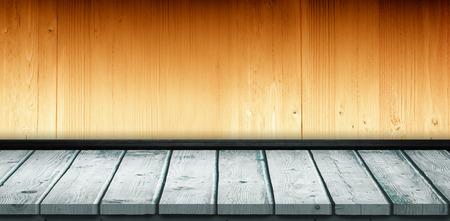 parquet: Grey parquet against wooden planks