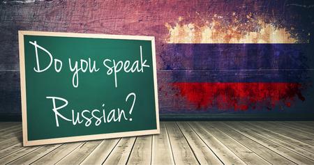 sentence: Sentence against russia flag in grunge effect