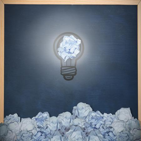 used: Used tissues against digital image of light bulb