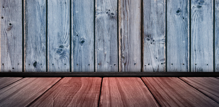 Image of a wooden floor against wooden background in blue