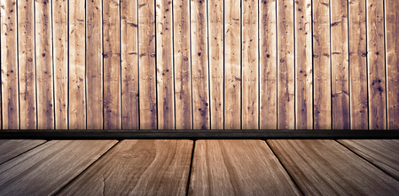 white wall: White wall with parquet against wooden planks Stock Photo