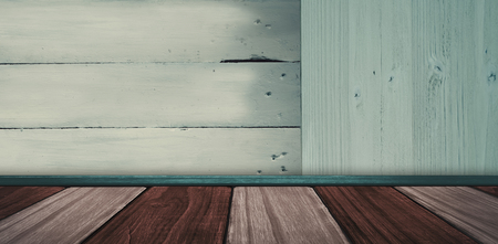 parquet: Image of white wall with parquet against wooden planks background