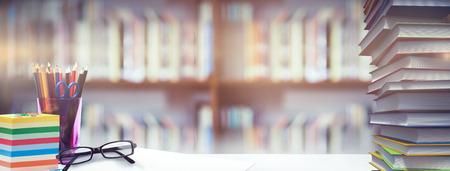 library shelf: Students desk against library shelf