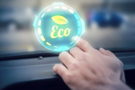 windshield wiper: Ecology   against man using satellite navigation system Stock Photo