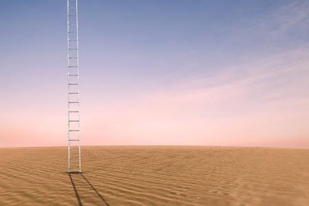 coastlines: Ladder against desert scene